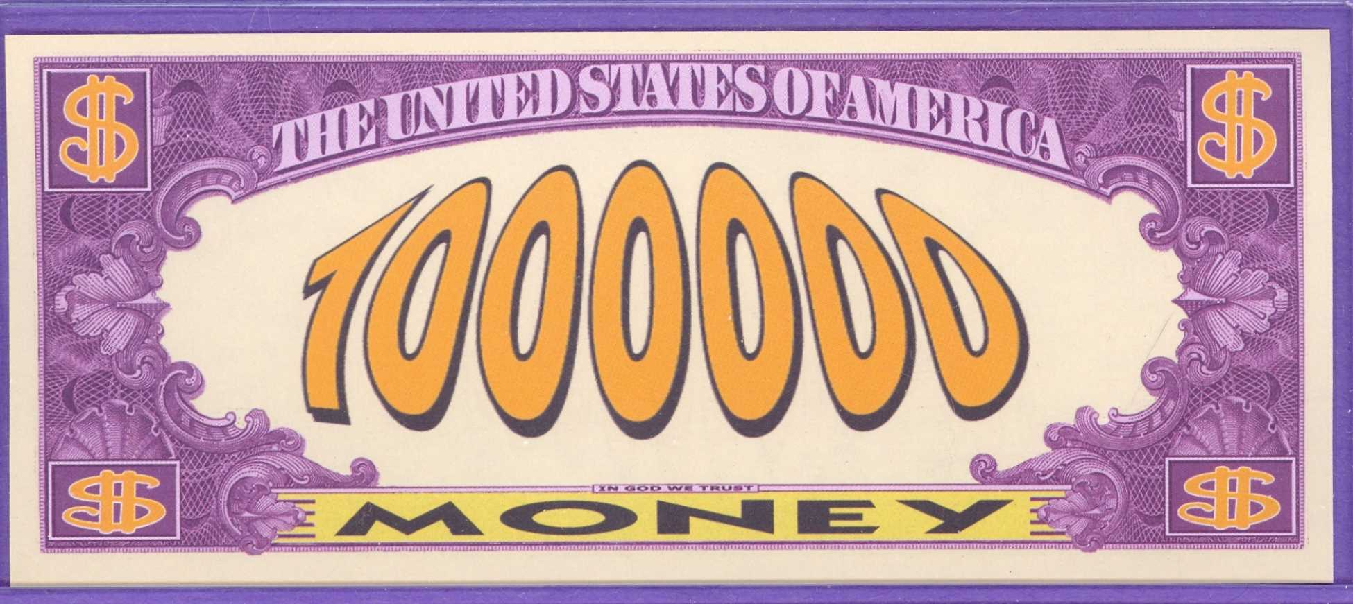$1,000,000 Novelty Note - Play Money